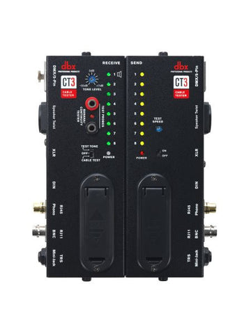 Dbx DBXCT3 Advanced cable testing unit w/ split design, allowing users to test the cable at the plu