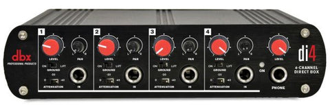 Dbx DBXDI4 4-channel direct box, converts unbalanced signals into balanced output