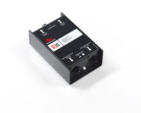 Dbx DBXDJDI 2-channel passive direct box that converts unbalanced signals into balanced output