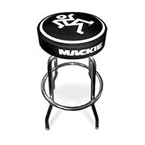 "Mackie MACKIESTDSTOOL Studio Stool with Mackie Logos, 30"" Height"