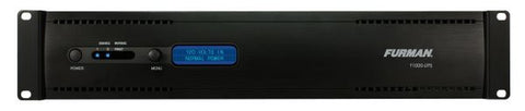 Furman F1000UPS 1000VA 2RU Rack Mount UPS, AVR, RS-232 & USB Interface, No Fan