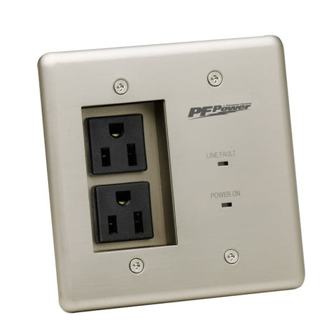Furman MIWPOWERPROPFP 15A In-Wall Power Conditioner, 2 Outlets, W Surge Protection, EVS, EMI/RF Fil