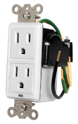 Furman MIWSURGE1G 15A In-Wall Duplex, 2 Outlets, W/ Surge Protection