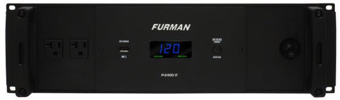 Furman P2400IT 20A Balanced 60V/60V Symmetrical Power Conditioner, 3RU, 10Ft Cord