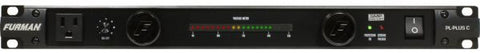 Furman PLPLUSC 15A Advanced Power Cond/Lights W/SMP & Voltmeter, 9 Outlets, 1RU, 10Ft Cord