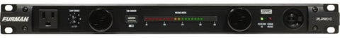 Furman PLPROC 20A Advanced Power Cond/Lights W/SMP & Voltmeter, 9 Outlets, 1RU, 10Ft Cord