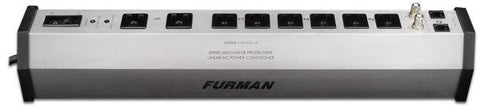 Furman PST8 15A Advanced AC Strip 8 Outlets W/SMP and EVS, 15A, 8Ft Cord, Exceeds UL1449 Standard