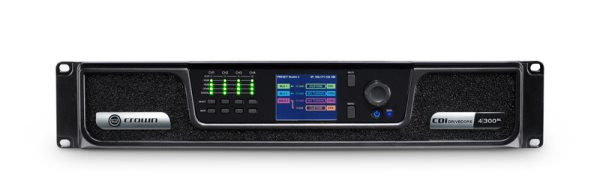 Crown CDIDRIVEC4300BL Analog + BLU link input, 4 channel, 300W per output channel, Amplifier
