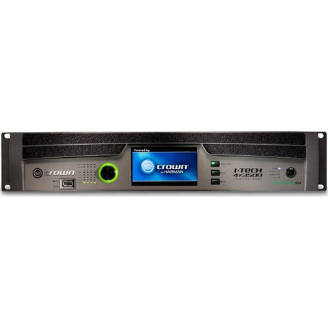 Crown IT4X3500HDB Four-channel, 4000W @ 4? Power Amplifier, Binding Post Version