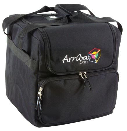 Arriba AC125 Beamer bag w/divider & front pocket Can hold 2 lights.