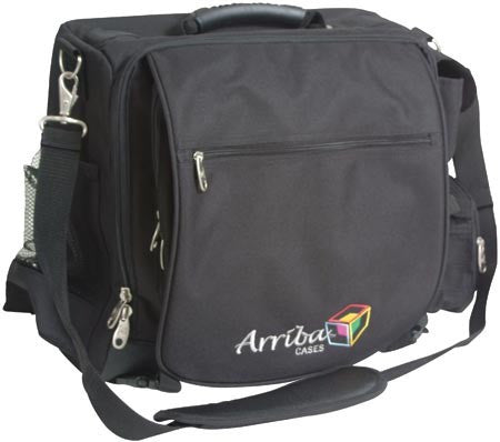 Arriba LS525 High Quality DJ Computer Case w/ headphone compartment & removable padded laptop c
