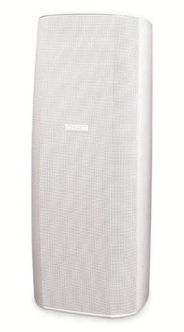 "Dual 8"" High-Output Two-Way Surface Speaker with 70/Image 100V Transformer and 8ê bypass - White - Image 1"