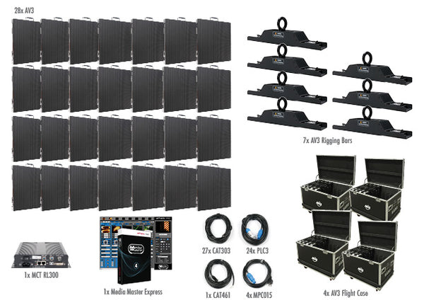 American DJ Includes 28 X AV3, 7 X AV3 Rigging Bars - Image 1
