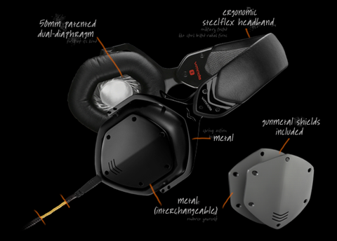 V-Moda Crossfade LP2 Over Ear Headphones XFL2VUBK