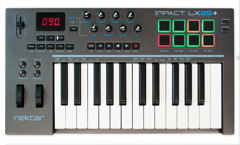 Nektar Impact LX25+  25 Note USB Midi keyboard controller with pads