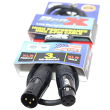 3 Ft. DMX XLR3-M to XLR3-F High Performance Cable