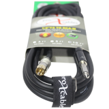 "10 Ft. Unbalanced RCA Male to 1/4"" Male  High Performance Audio Cable"