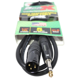 "5 Ft. Balanced XLR3-M to 1/4"" TRS-M High Performance Audio Cable"