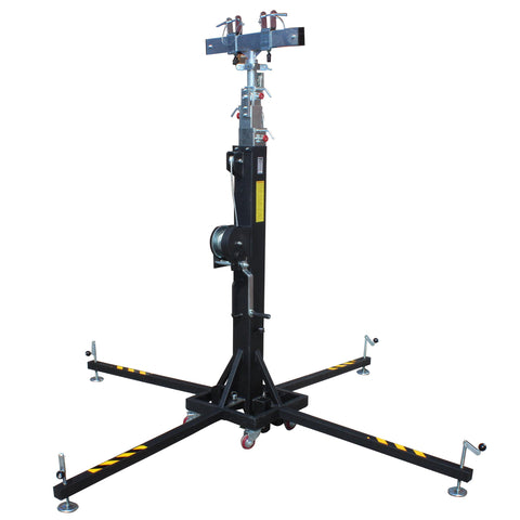 XT-CRANK22FT-400 Heavy Duty 22 Ft. High Truss Crank Up Lighting Stand 400 Lbs. Capacity