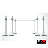 ProX Stage Roofing System 30'W x 20'L x 23'H & Speaker Wings - Incl 6 Chain Hoist - Image 1