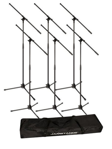 Ultimate Support JSMCFB6PK JamStands Six Tripod Mic Stands w/ Carrying Bag