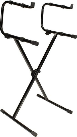 Ultimate Support IQ1200 IQ-1200 Single Brace X-Style Stand with 2nd Tier