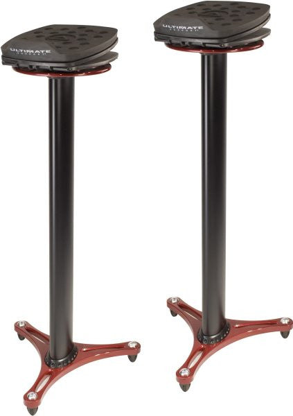 Ultimate Support MS100R MS-100 Studio Monitor Stand;  PAIR;  Red