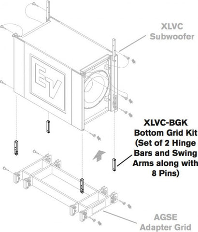 Electro Voice Bottom Grid Kit for XLVC Systems - Image 1