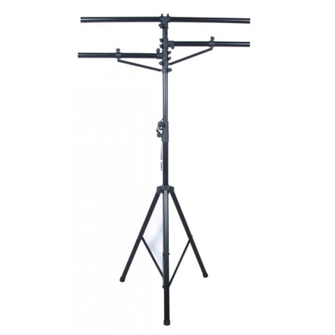 American DJ LTS1 12 foot heavy duty black tripod stand, w/2 side bars.                                                - Image 1