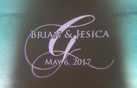 Wedding Monogram Projector + Custom Gobo