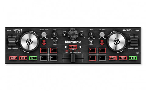 Numark DJ2GO2 Touch - Pocket DJ Controller with Capacitive Touch Jog Wheels