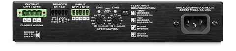 QSC 1/2 RU 2 Channel EnergyStar Power Amplifier / Stereo Operation 60 Watts