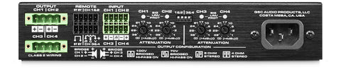 QSC 1/2 RU 4 Channel EnergyStar Power Amplifier / Stereo Operation 60 Watts