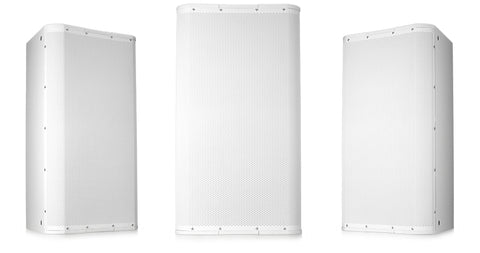 "Image 15"" High-Output Two-Way Surface Speaker with 75ø Conical DMT Coverage - White - Image 1"