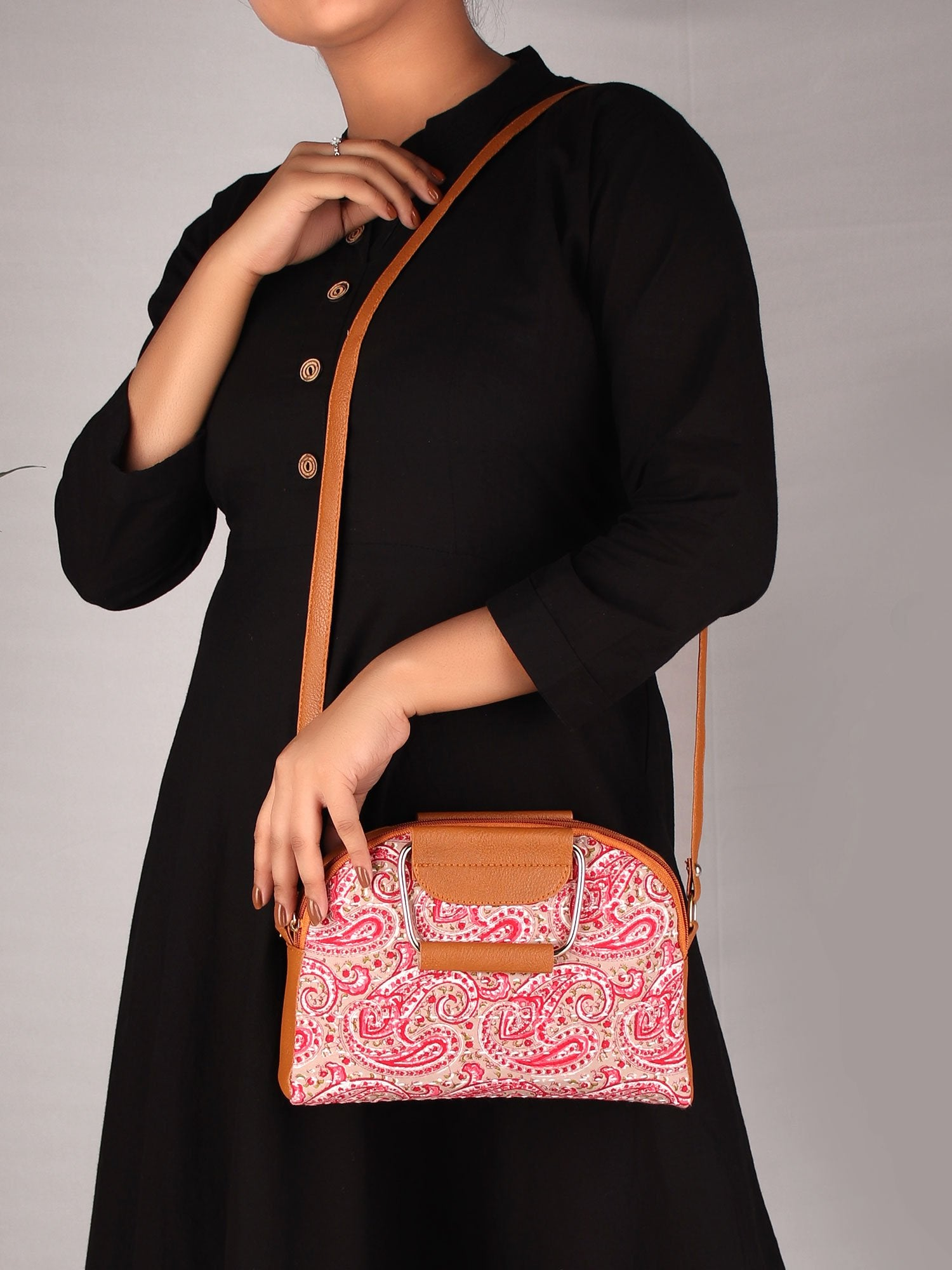 PINK PAISLEYS  STATEMENT HANDBAG