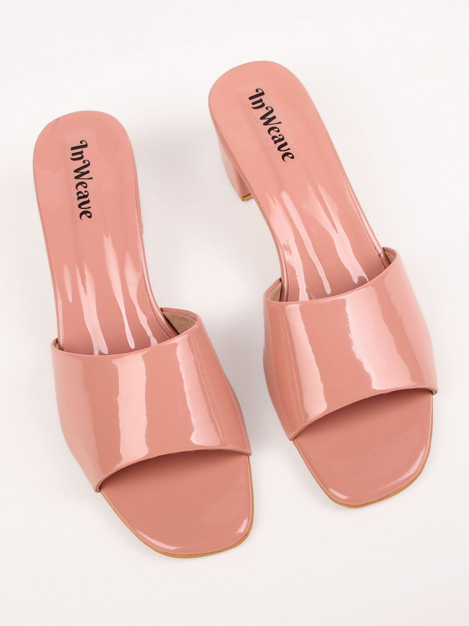 METROPOLIS BLOCK HEELS IN BLUSH PINK