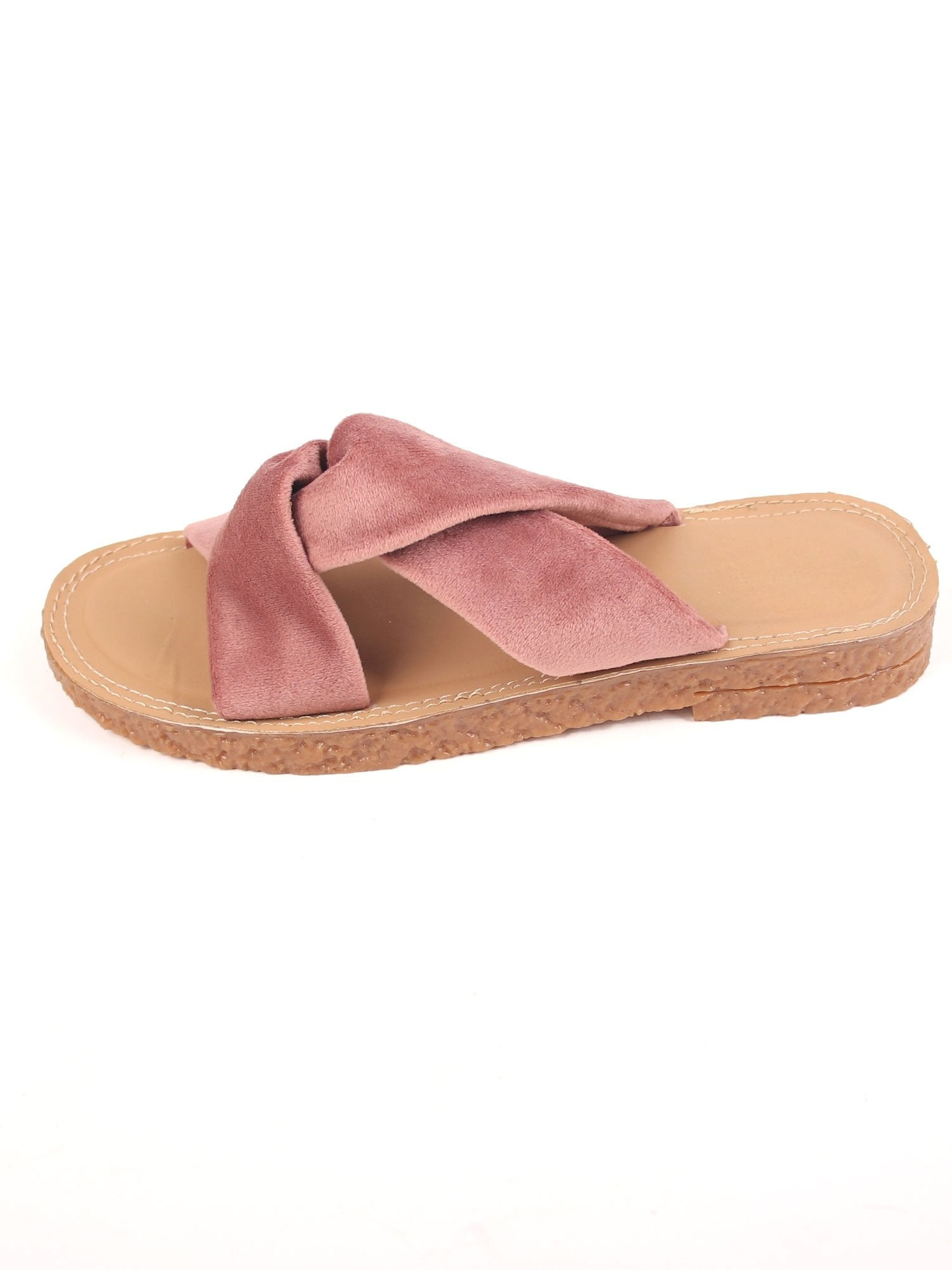 LOVE ME KNOT FLATS IN BLUSH PINK