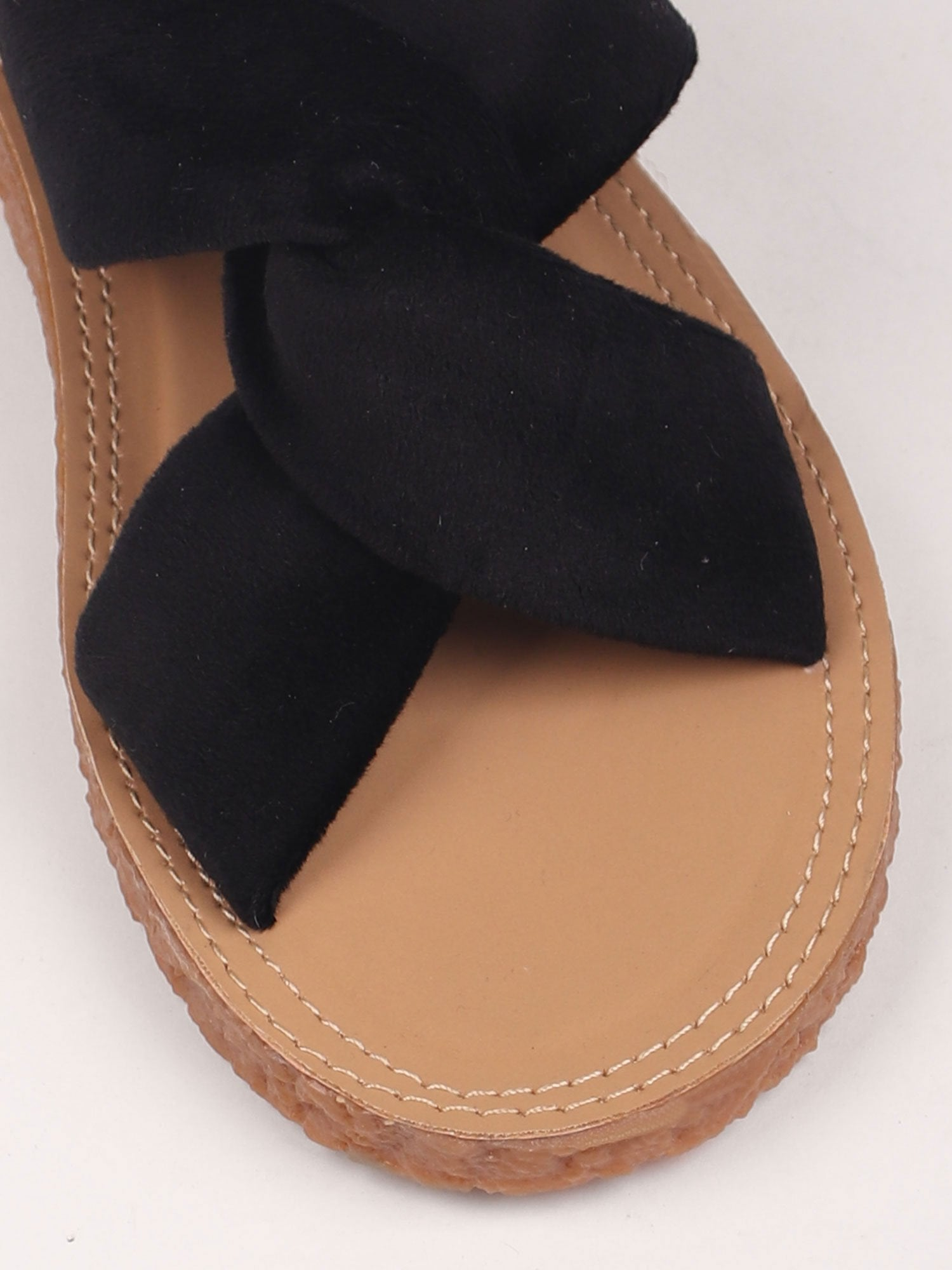 LOVE ME KNOT FLATS IN BLACK