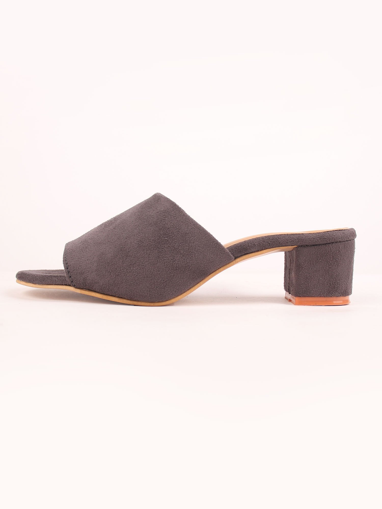 COSMO BLOCK HEELS IN DARK GRAY