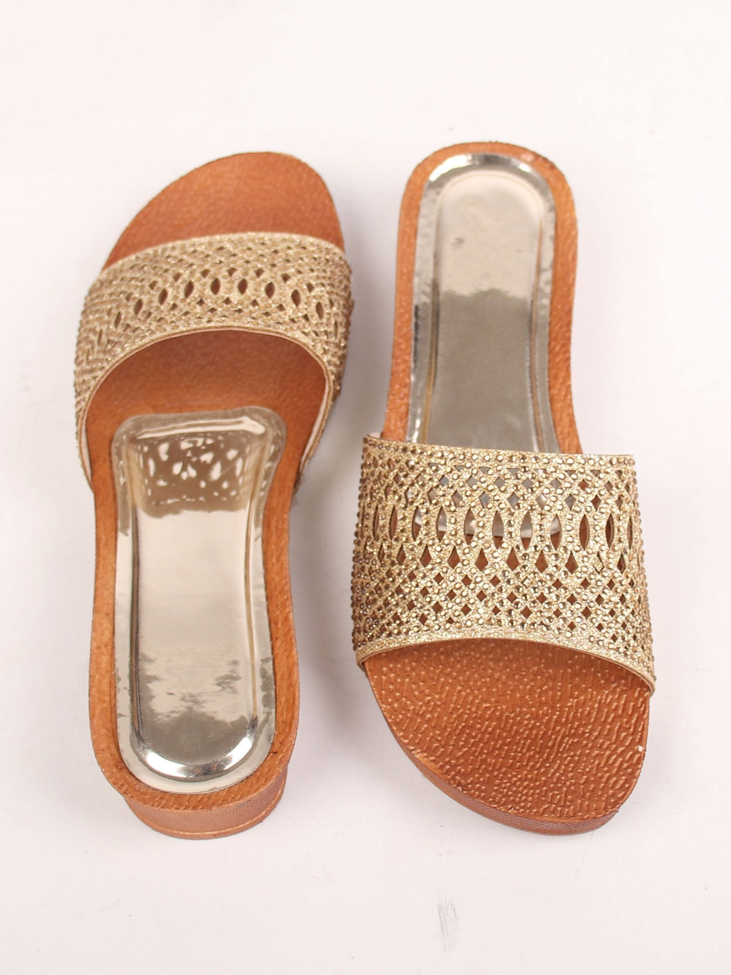 GOLDEN MAGIC PLATFORM SANDALS