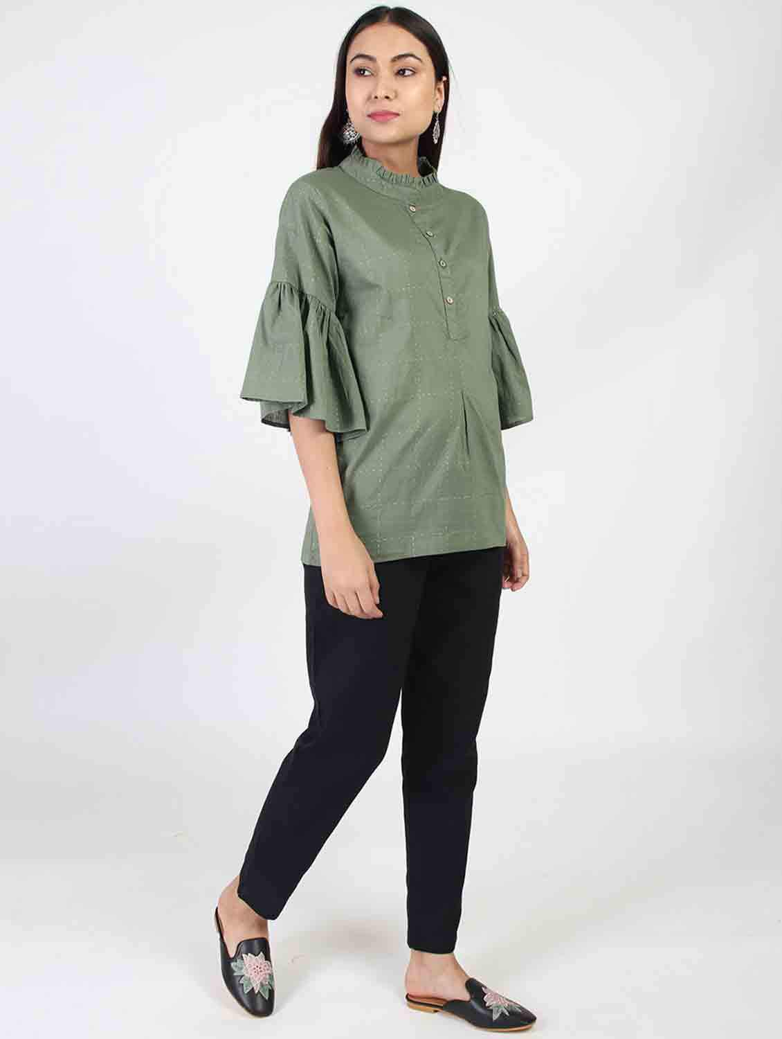 OLIVE LABYRINTH TUNIC