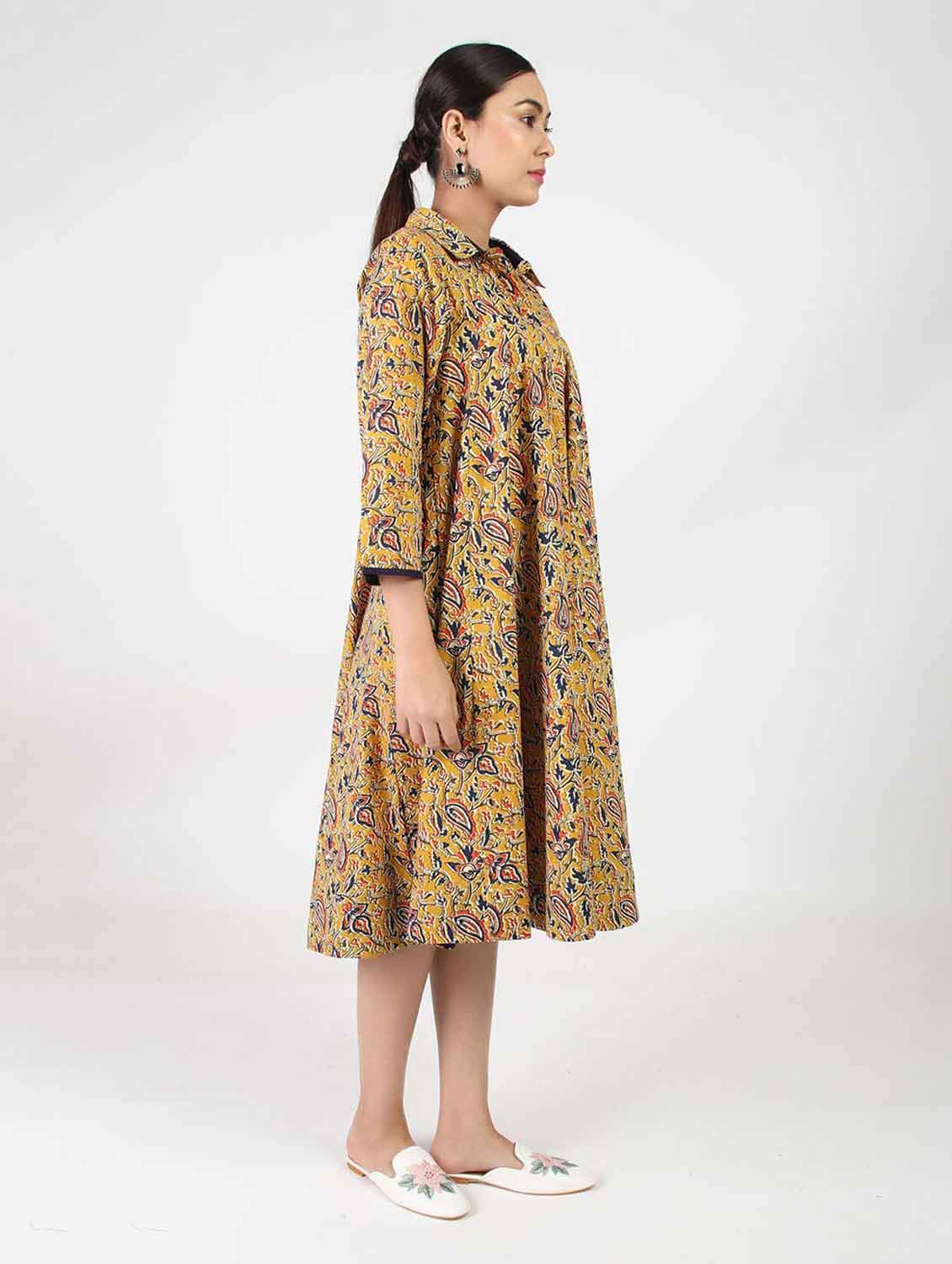 KALAMKARI DRESS FLARED