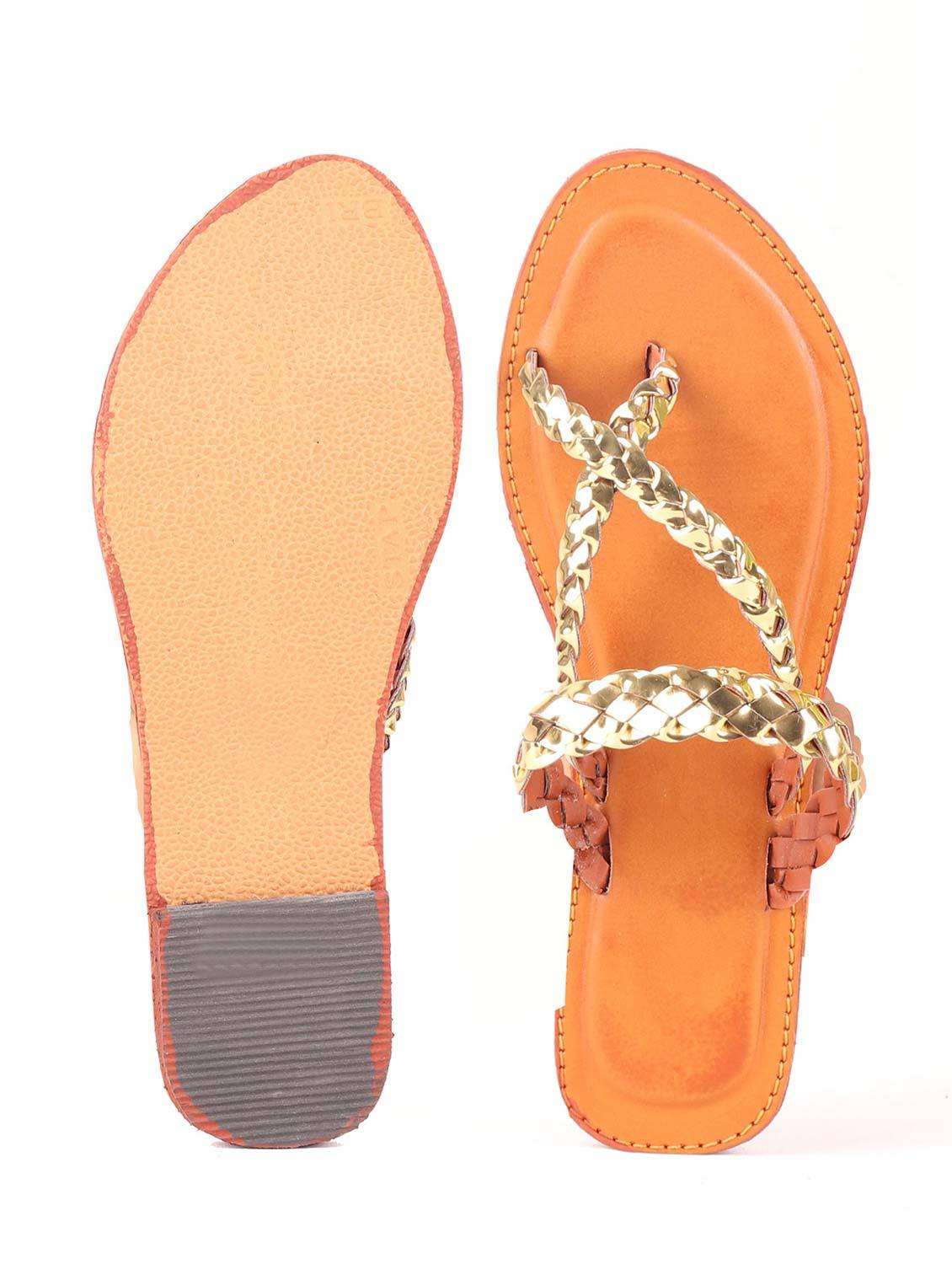 ROSS BEADED STRAP FLATS