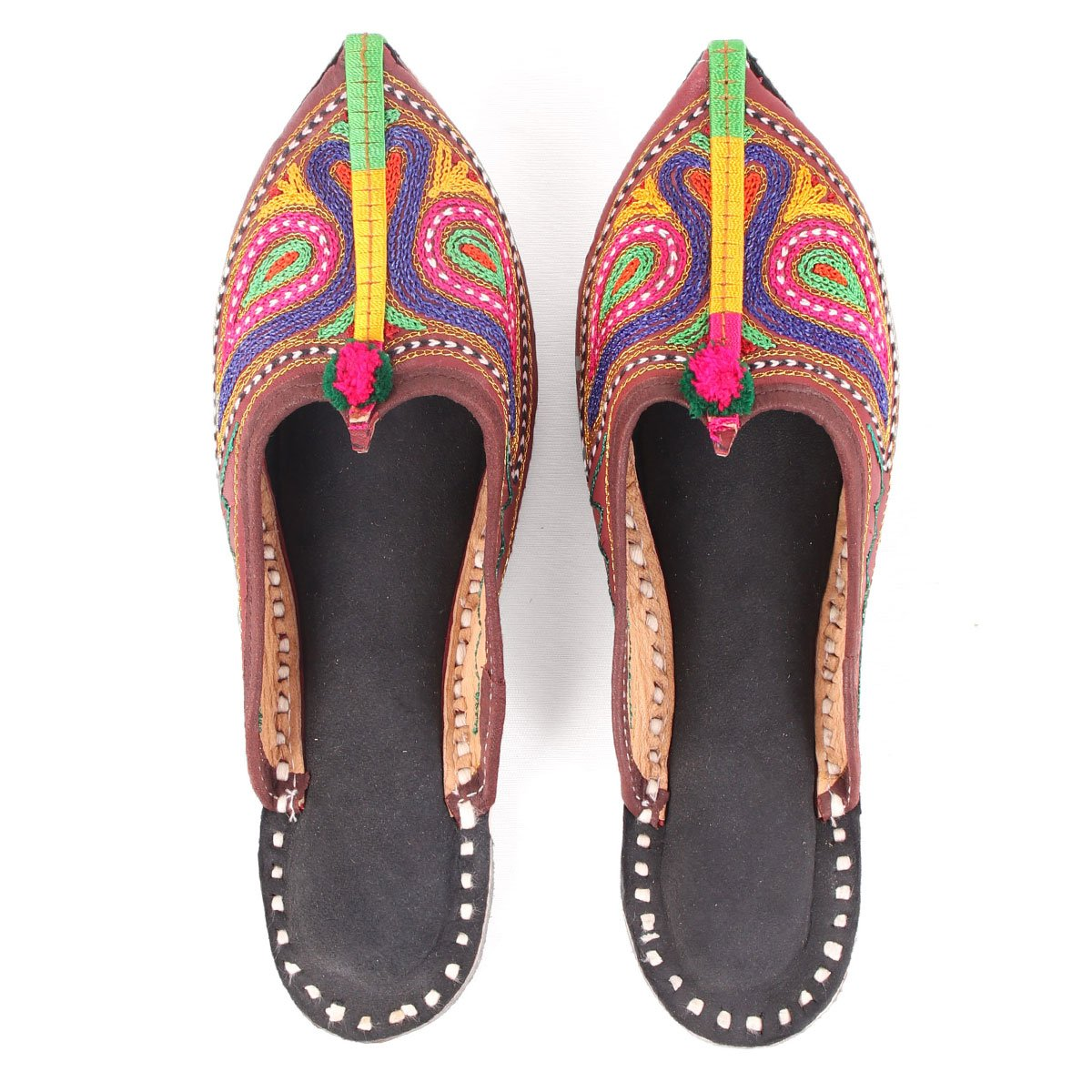 MULTICOLOR EMBROIDERY MULES