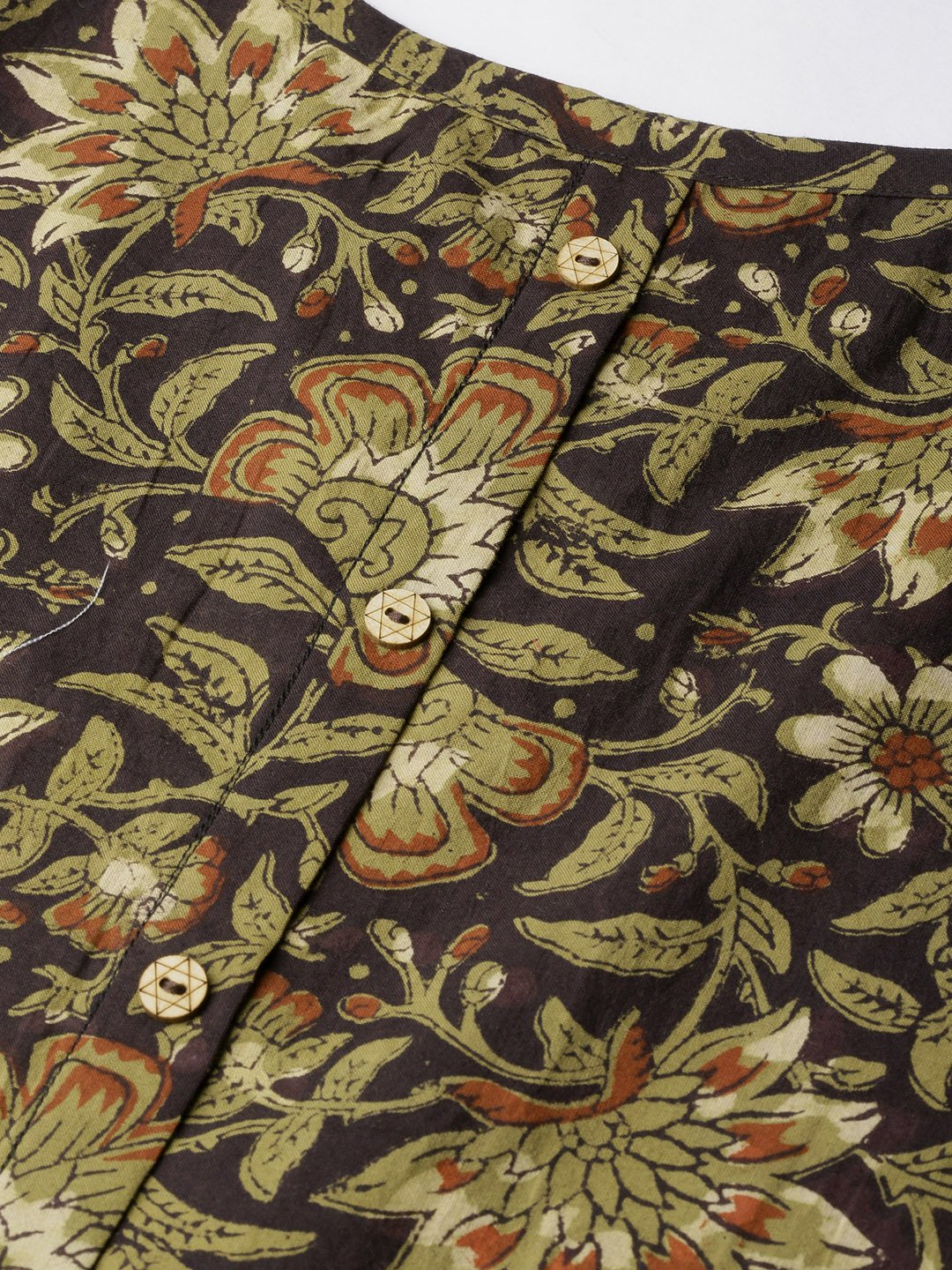 Spagheti Top Kalamkari Green