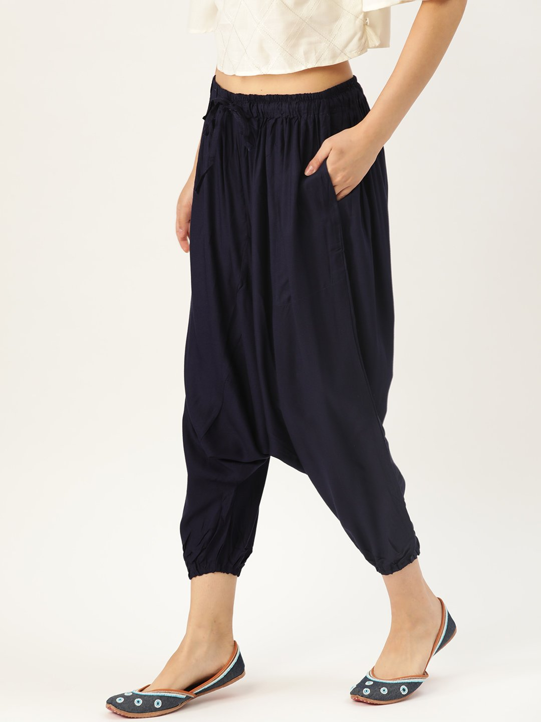 Harem Pants - Navy Blue