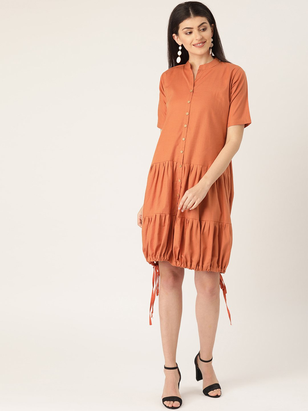 Rust Colour Dress
