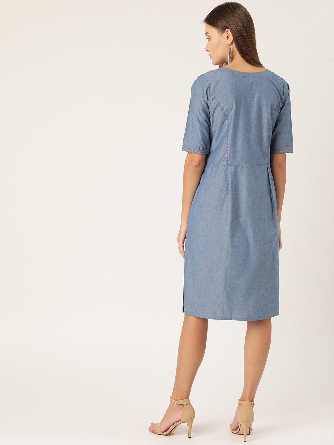 Denim Dress With Pocket