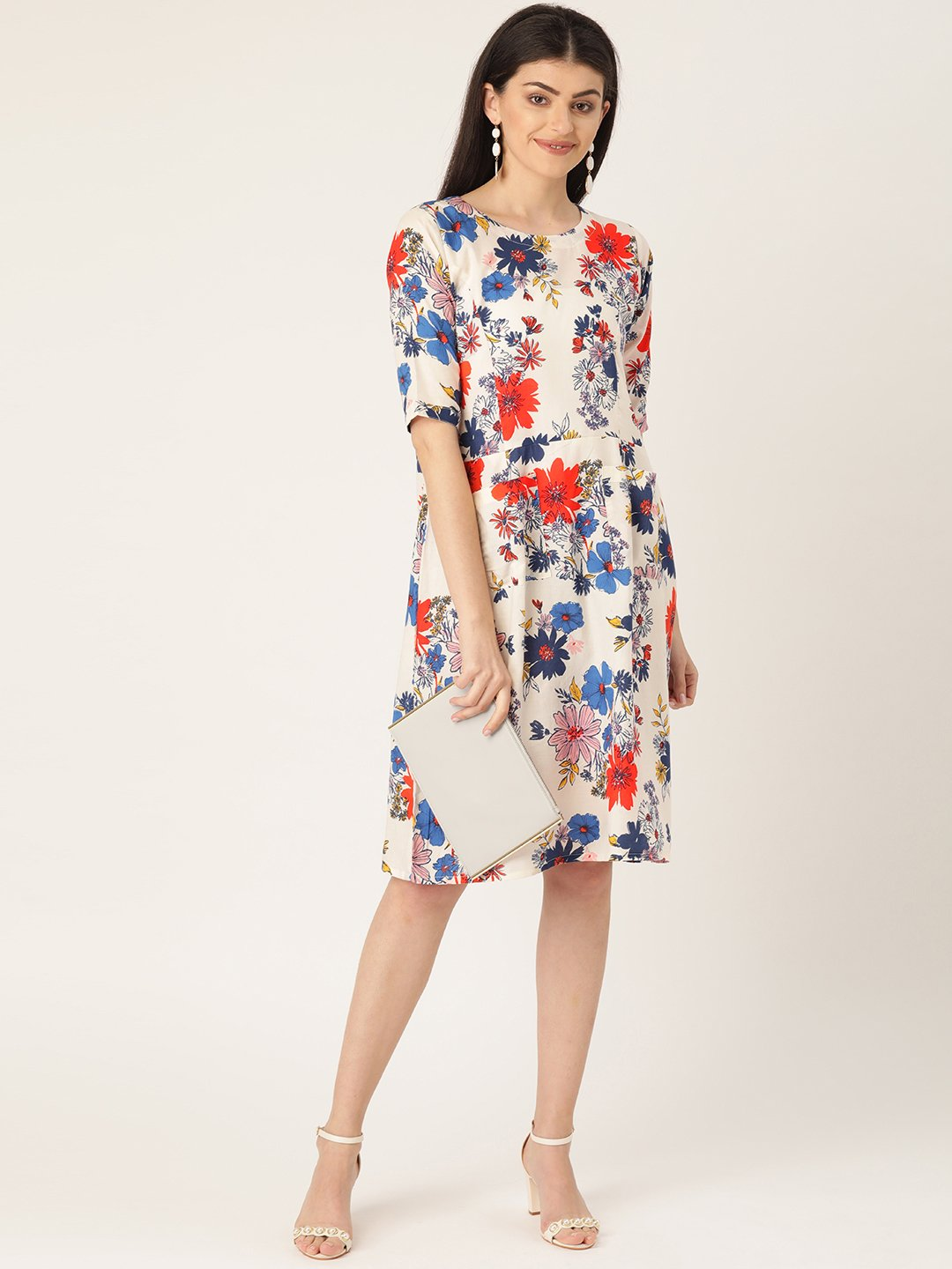 Floral Printed Dress With Pockets