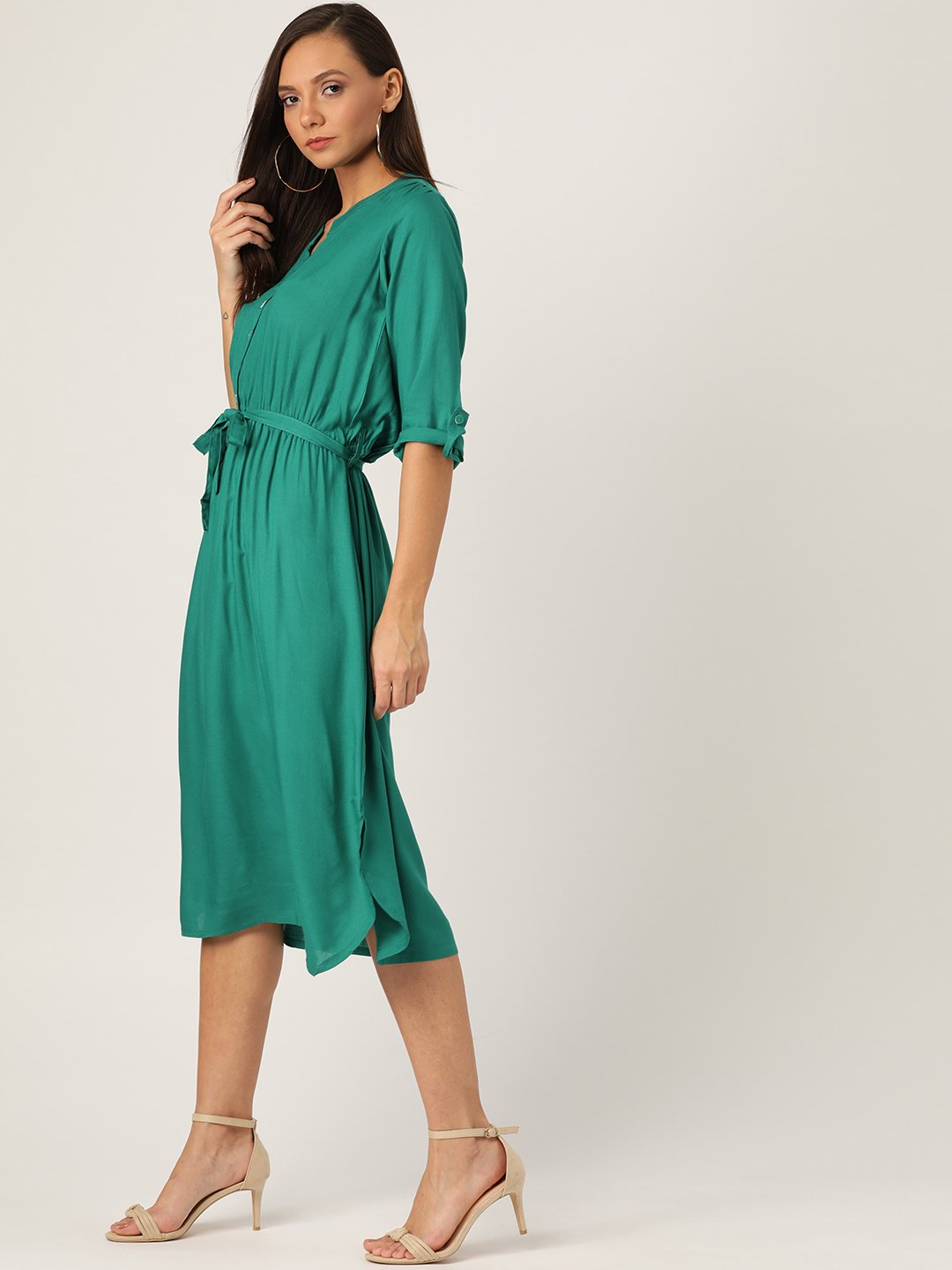 Green Dress With Belt